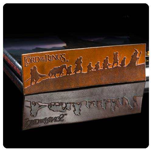 The Lord of the Rings Fellowship of the Ring Silhouette Leather Bookmark