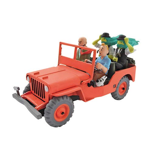 Adventures of Tintin Willy's Jeep 1:43 Scale Statue