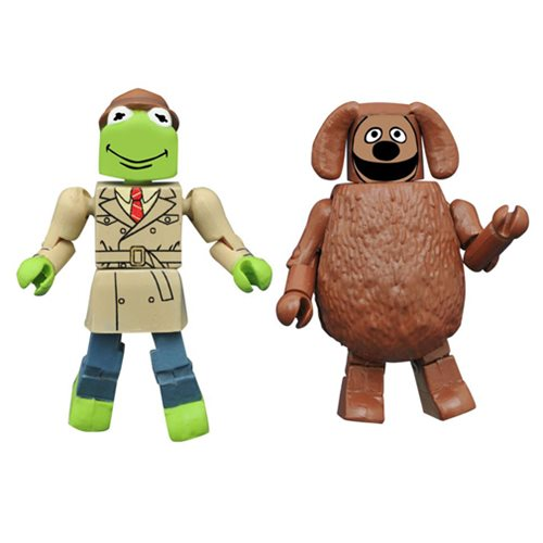 Muppets Minimates Series 2 Reporter Kermit and Rowlf 2-Pack