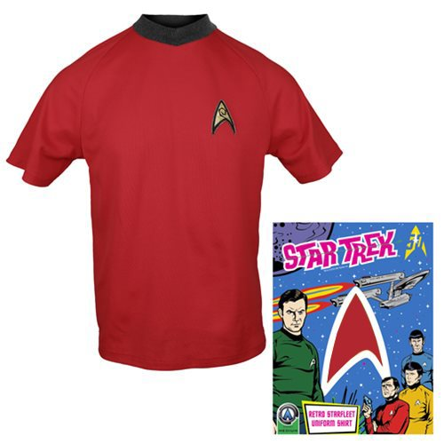 Star Trek: The Original Series Operations Red Retro Starfleet Uniform T-Shirt