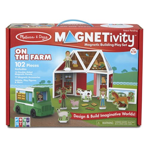 Magnetivity On the Farm Magnetic Building Play Set