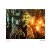 Star Wars Master Yoda by Christopher Clark Paper Giclee Art Print