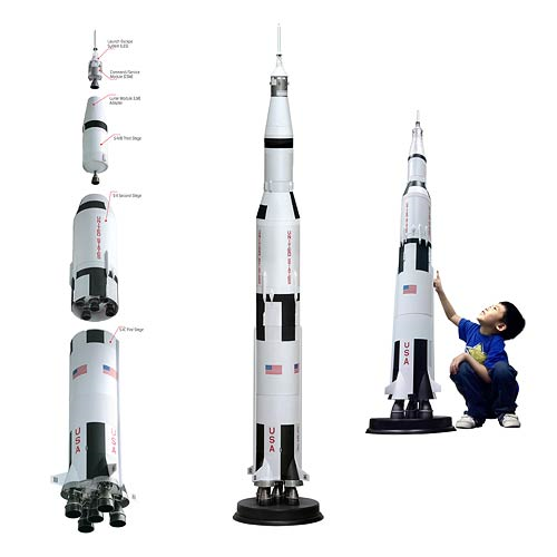 NASA Saturn V Rocket 1:72 Scale Model Kit - Entertainment ...