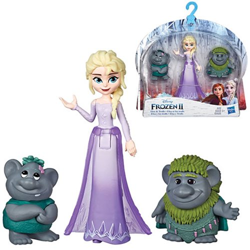 Frozen 2 Elsa and Trolls Small Dolls