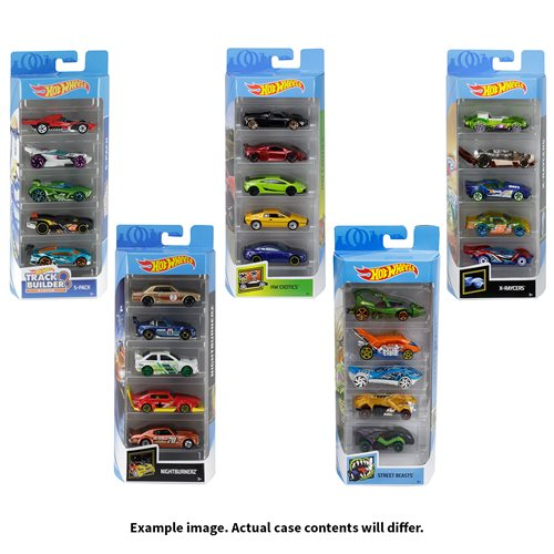 Hot Wheels 2019 5-Car Pack Wave 15 Case