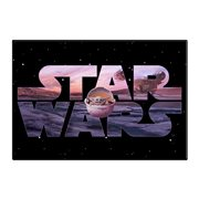 Star Wars: The Mandalorian Logo and The Child Wood Wall Art