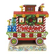 Peanuts Woodstock's Train Caboose Christmas Caboose Statue by Jim Shore