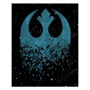 Star Wars: The Last Jedi Deconstructed Rebel Icon Canvas Print