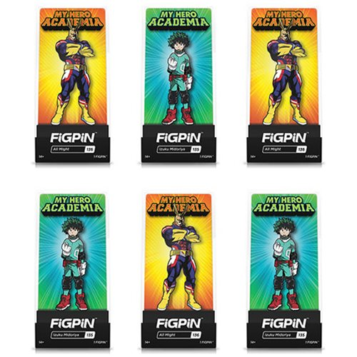 My Hero Academia Assorted FiGPiN Enamel Pins 6-Pack Case