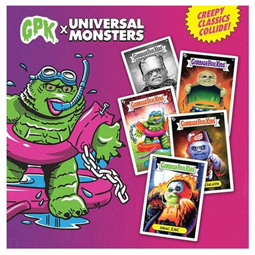 Garbage Pail Kids x Universal Monsters Trading Card Wax Packs - Countertop Box of 24 Packs