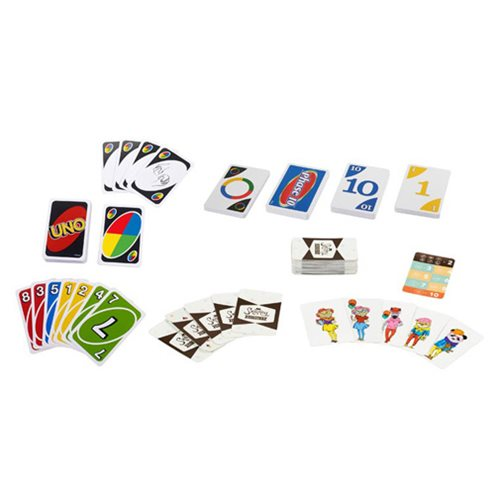 Uno Phase 10 Snappy Dressers Collector Tin Bundle Game