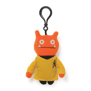 Star Trek Uglydoll Wage Captain Kirk Clip-On Backpack Plush