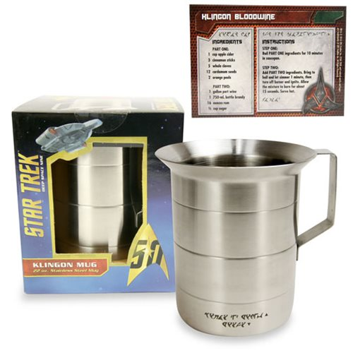 Star Trek 50th Anniversary Klingon Mug