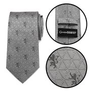 Game of Thrones Lannister Geometric Sword Gray Men's Tie