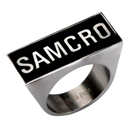 Sons of Anarchy SAMCRO Logo Ring