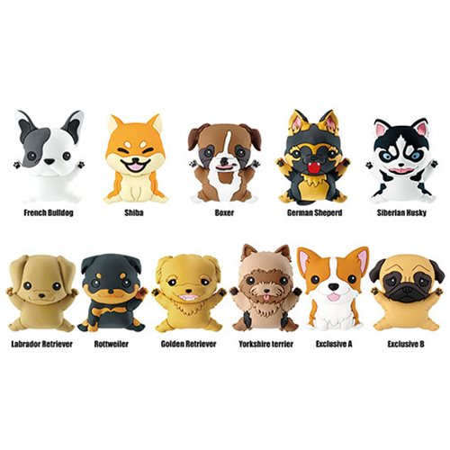Puppies Series 1 3D Figural Key Chain Display Case