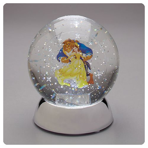 Beauty And The Beast Belle And Beast Waterdazzler Snow Globe