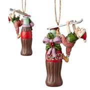 Coca-Cola Elf Coke Bottle Ornament by Jim Shore