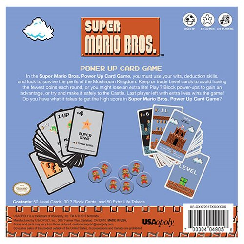 Super Mario Bros. Power Up Card Game