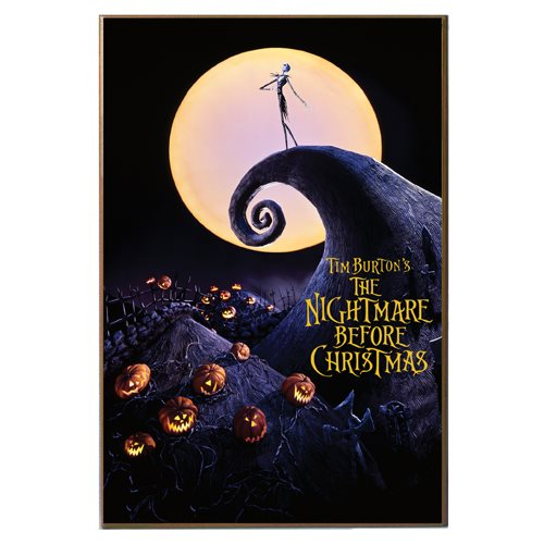 Nightmare Before Christmas Poster Wood Wall Art