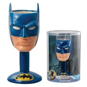 Batman Head Ceramic Molded Goblet