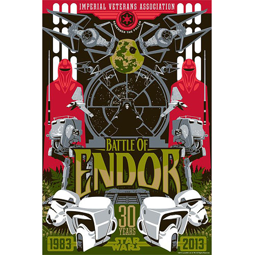 Star Wars Battle of Endor Paper Giclee Art Print