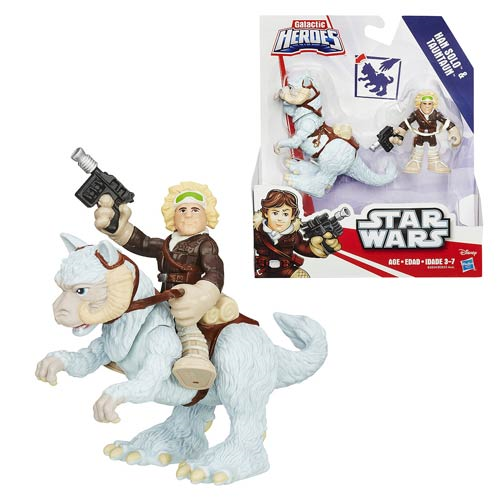 Star Wars Galactic Heroes Tauntaun and Han Solo, Not Mint