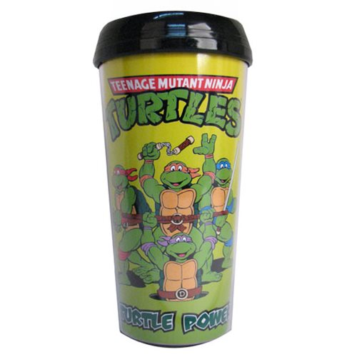 Teenage Mutant Ninja Turtles Turtle Power 16 oz. Plastic Travel Mug