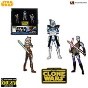 Star Wars: The Clone Wars Enamel Pin Set - Entertainment Earth Exclusive, Not Mint