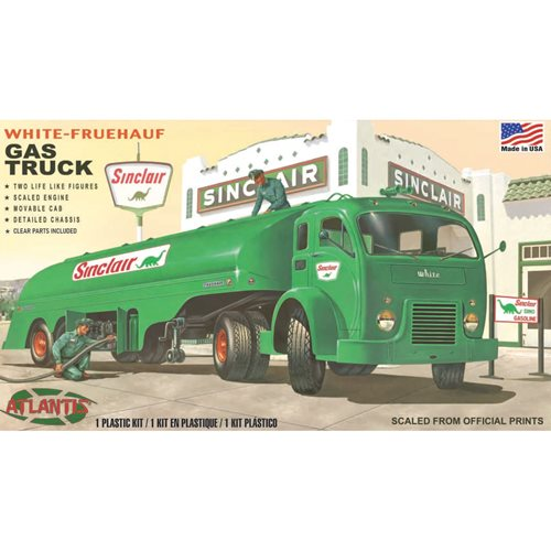 US Army White Fruehauf Gas Truck Sinclair 1:48 Scale Plastic Model Kit