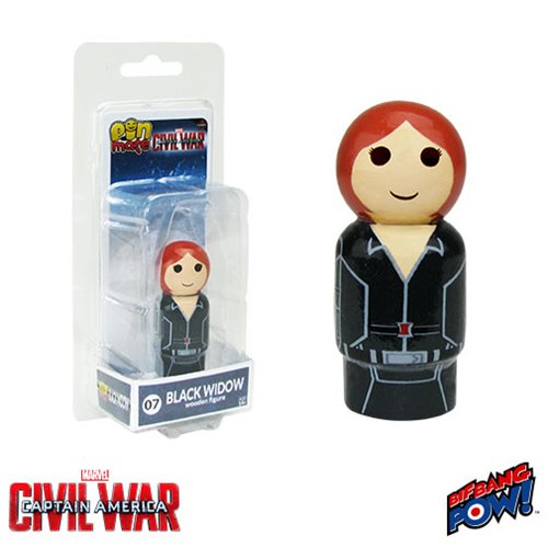 Captain America: Civil War Black Widow Pin Mate Wooden Figure