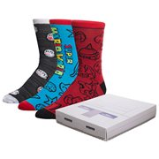 Nintendo Super Console Crew Sock 3-Pack Box Set