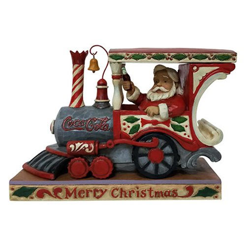 Santa Coca-Cola In Train Engine by Jim Shore Statue