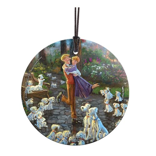 101 Dalmatians Thomas Kinkade StarFire Prints Hanging Glass Ornament
