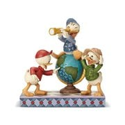Disney Traditions DuckTales Huey, Dewey, and Louie Navigating Nephews Statue by Jim Shore