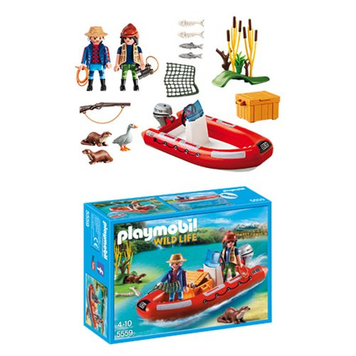 Playmobil 5559 Inflatable Boat with Explorers and Otters