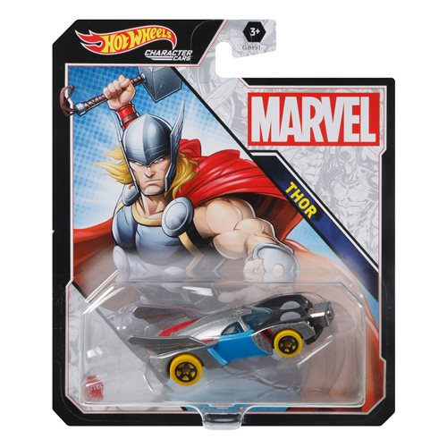 Marvel Hot Wheels Character Car Mix 3 Vehicle Case