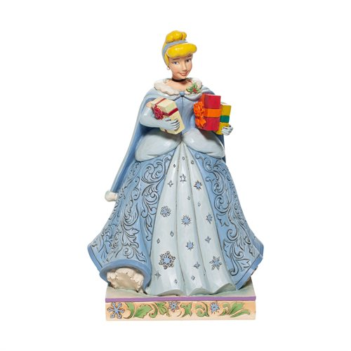 Disney Traditions Cinderella Christmas Gifts of Celebration Statue by Jim Shore