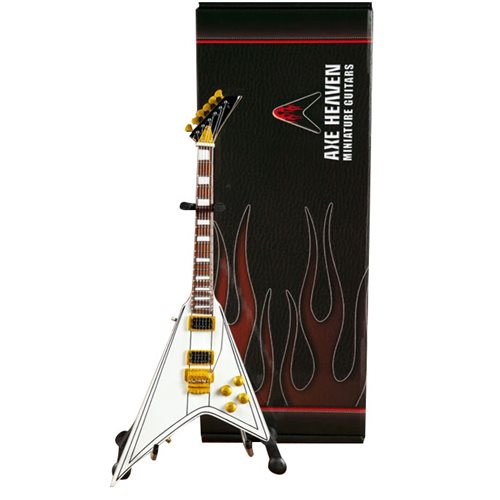 Randy Rhoads White Flying V Miniature Guitar Replica