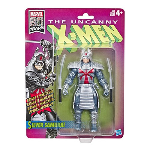 X-Men Retro Marvel Legends 6-Inch Silver Samurai Action Figure
