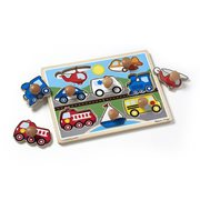 Melissa & Doug Vehicles 8-Piece Jumbo Knob Puzzle