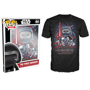 Star Wars: Episode VII - The Force Awakens Poster Black Pop! T-Shirt