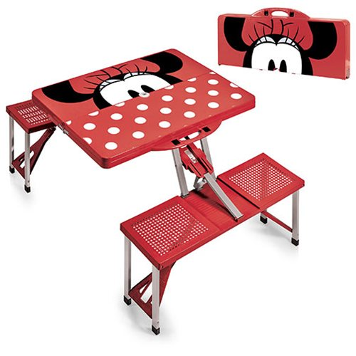 Minnie Mouse Portable Folding Table with Seats