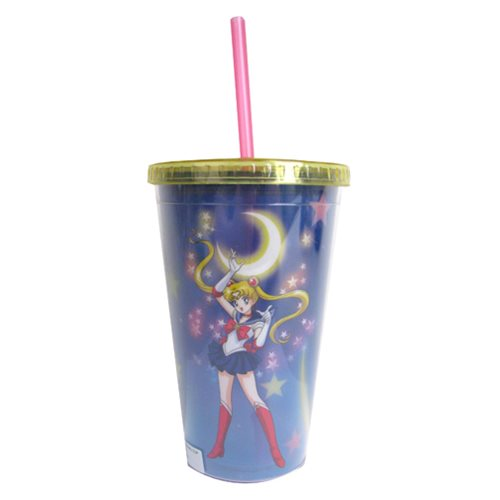 Sailor Moon Clear Wrap 18 oz. Travel Cup