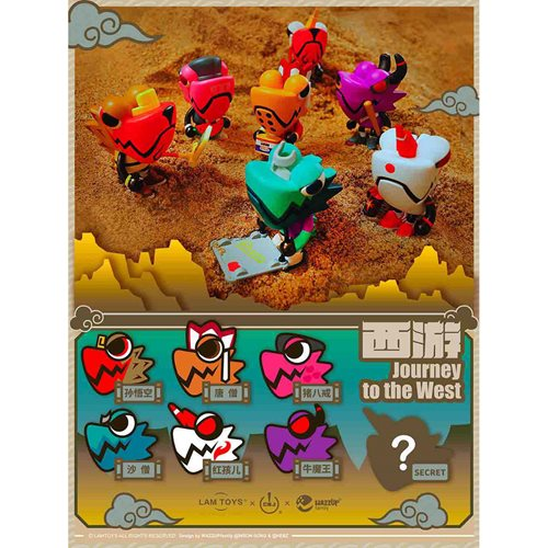 Wazzup Chameleon Journey to the West Random Blind Box Mini-Figures Display Tray