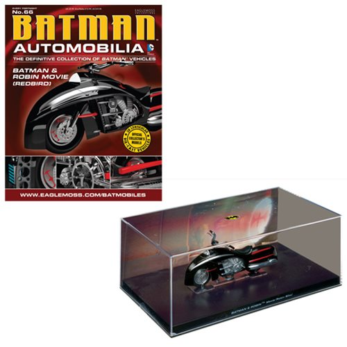 Batman and Robin Movie Robin Bike Die-Cast Metal Vehicle with Collector Magazine