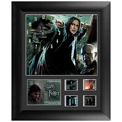 Harry Potter Deathly Hallows Part 2 Series 1 Film Cell Clock