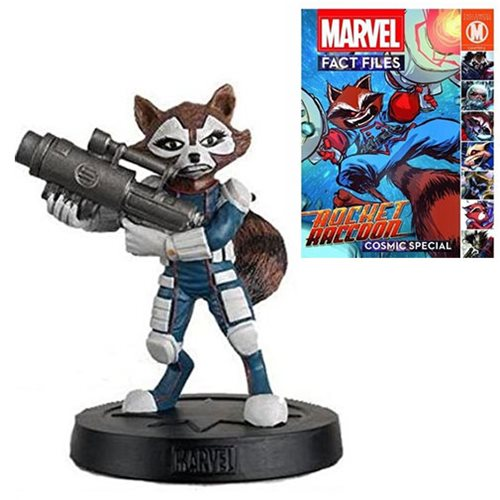 Marvel Fact Files Cosmic Special #1 Rocket Raccoon Statue with Collector Magazine
