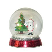 Peanuts Snoopy Tree LED 4 1/2-Inch Snow Globe