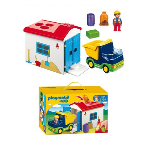 Playmobil 6759 1 2 3 Truck With Garage Entertainment Earth